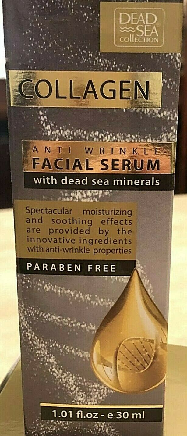 Dead Sea Collection Anti Wrinkle COLLAGEN Face Set - Day & Night Cream + Serum