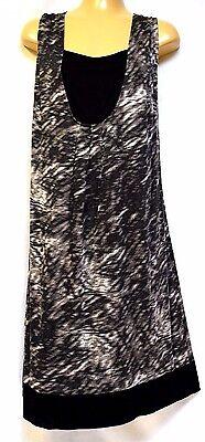 TS top TAKING SHAPE plus sz XXS /12 Boulevard Tank drape layered-look funky NWT!