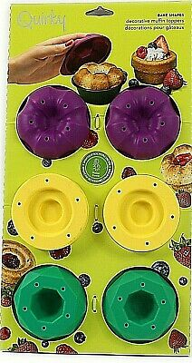 6 Cup Muffin Fairy Cake Flan Moulds Toppers Steel Silicone Shapes Non Stick Pan Non-stick Steel Muffin Pan