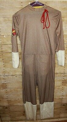 Sock Monkey Adult One Size Costume Cosplay Body Suit & Mask -See Measurements! - Monkey Costume Adult