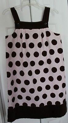 Gymboree Girls Sleeveless Polka Dot Velour Jumper Dress Size 12