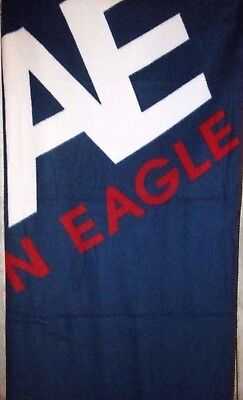 AMERICAN EAGLE NAVY BLUE FLEECE THROW BLANKET for sale  Fontana