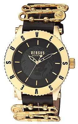 Versus by Versace S22070016 Madison Black Dial Black Leather Strap Women's Watch