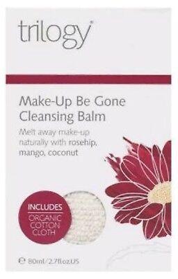 *Trilogy* Make-Up Be Gone Cleansing Balm+Organic Cotton Cloth 2.7oz *Brand covid 19 (Moisturizing Cleansing Cloths coronavirus)