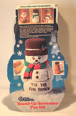 Wilton Retired Stand-Up Snowman Aluminum Cake Pan Kit 1984 #1821-1394 PAN ONLY