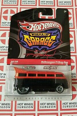 Hot Wheels Phil's Garage Volkswagen T1 Drag Bus Orange * Chase * NIP 1:64 Scale