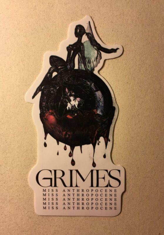 Grimes Sticker Miss Anthropocene Claire Boucher Rare Vinyl Elon Musk SpaceX NEW