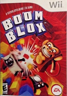 Boom Blox - Nintendo Wii - EA Games - The Game + Manual + Case - Good Working