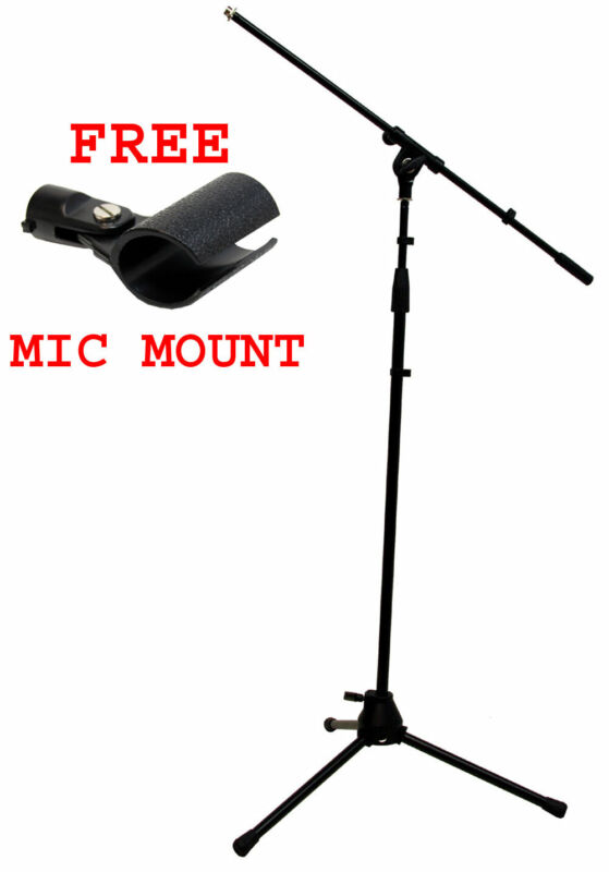 Pro Audio Adjustable Boom Tripod Microphone Instrument Or Vocal Stage Mic Stand