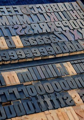 Letterpress Wood Printing Blocks 195pcs 3.54 Tall Wooden Type Woodtype Alphabet