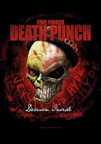 "Five Finger Death Punch Demon Inside LPGI Fabric Textile Poster Flag 30"" X 40"""