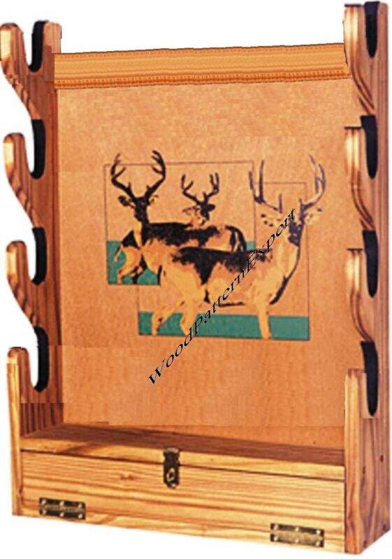 GUN RACK Paper Patterns BUILD SAN ANGEO WALL STYLE TO HOLD RIFLES Easy DIY Plans