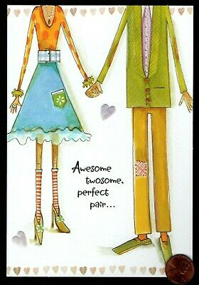 ANNIVERSARY Loving Couple Holding Hands EMBOSSED -  Anniversary Greeting Card  ()