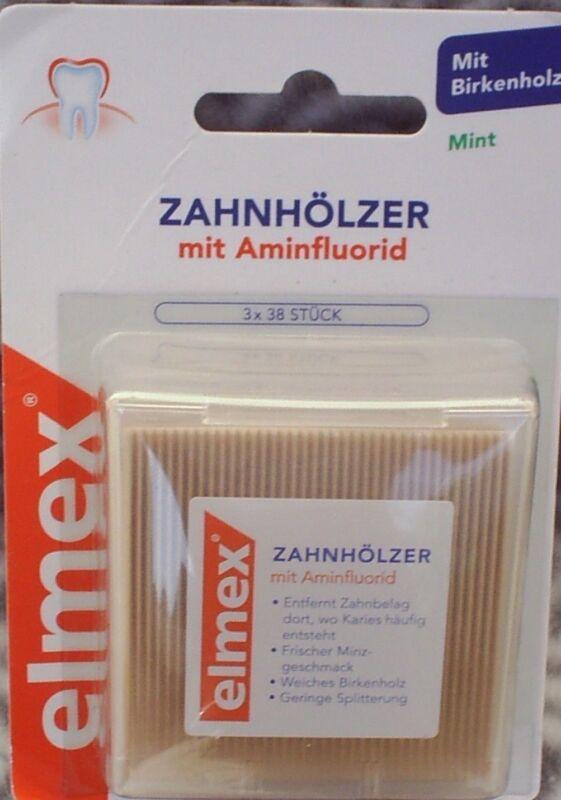 Elmex Zahnhoelzer 3X38St   1 Packungen  5918464 Zahnstocher Aminfluorid 114  pf