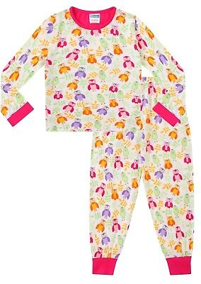 Cute Girl's Long Pyjamas Alll Over OWL Long Pjs 5 to 11 Years (Cute Girl Pajamas)