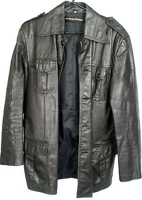 Harley-Davidson Vintage AMF Leather Jacket Early 1970s Button-Up Mens SZ 40 for sale  Shipping to Canada