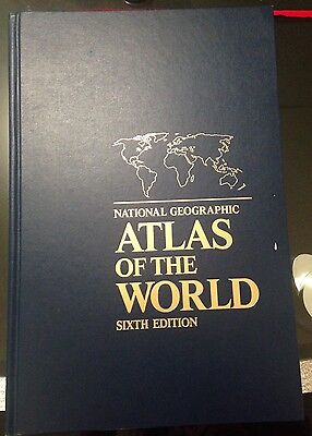 VINTAGE  NATIONAL GEOGRAPHIC ATLAS OF THE WORLD SIXTH EDITION