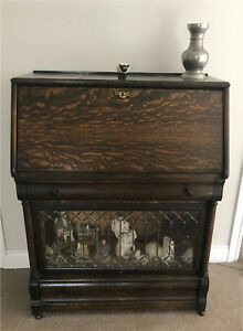 Antique Oak Secretary's Desk
