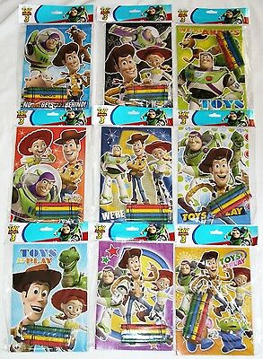 (12 Toy Story 3 Disney Pixar Coloring Book & Crayon Set Party Favor Bag Fillers)