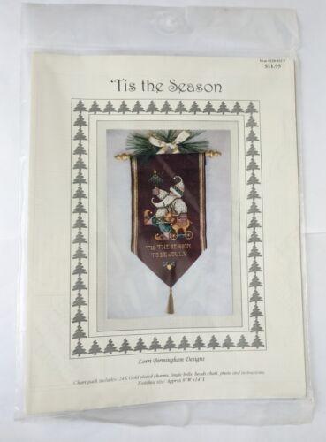 Tis the Season Santa Christmas Cross Stitch Chart and Charms Lori Birmingham