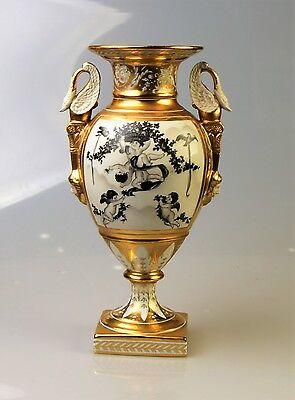 PORZELLAN VASE SAMMLER GOLD DECO AMPHORE H: 33 cm