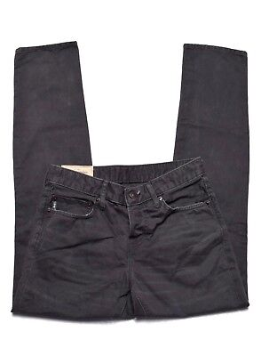 Slim Charcoal Denim Pant (Mens Abercrombie & Fitch Charcoal Gray Straight Slim Fit Denim Pants Jeans 28x30)