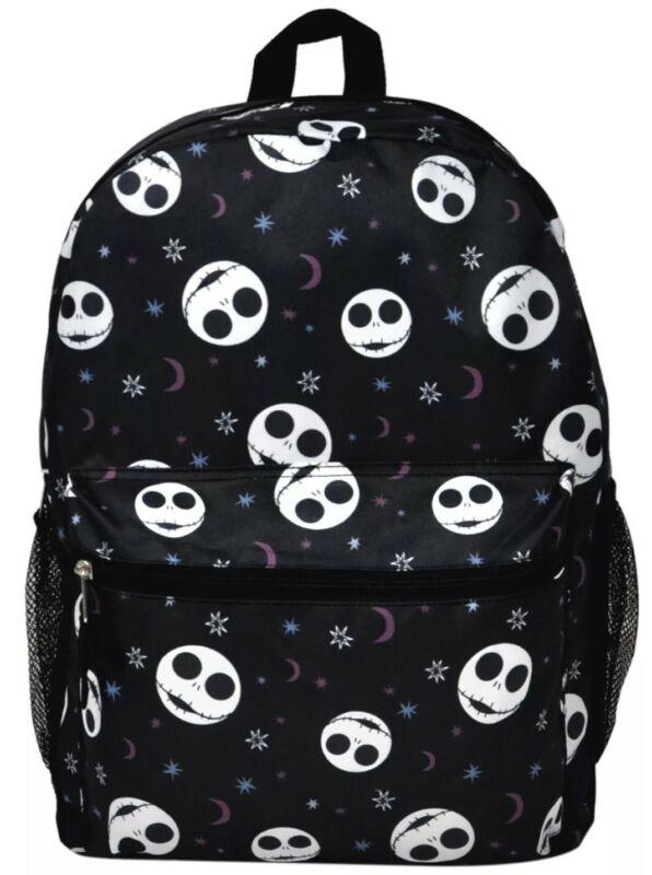"Disney Jack Skellington Backpack 16"" Nightmare Before Christmas Front & Side"