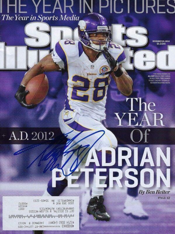 GFA Minnesota Vikings * ADRIAN PETERSON * Signed Sport Illustrated Magazine COA
