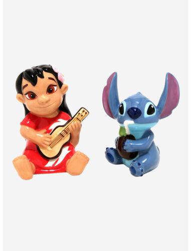 Disney Lilo and Stitch Salt & Pepper Shakers Ceramic Figurine Set NEW