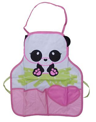 Childs Cute Panda Bear Bib Style Apron - Kids Cooking