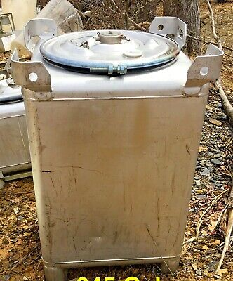 Clawson Tank Co. 120 Gallon Square Stainless Steel Tote