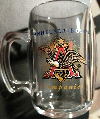 NYSE Budweiser Anheuser Busch acrylic beer mug BUD Stock Exchange (Anheuser Busch Stock)