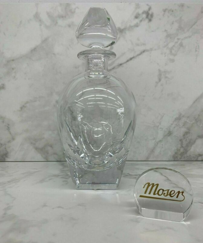 Moser Glass Bar Decanter, Clear