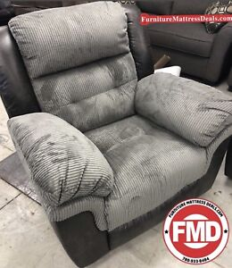 All New Grey MicroFibre 2 Tone recliner rocker chair $650