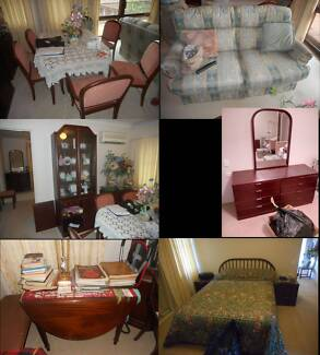 Furniture, deceased estate, tables, chests of drawers, etc.