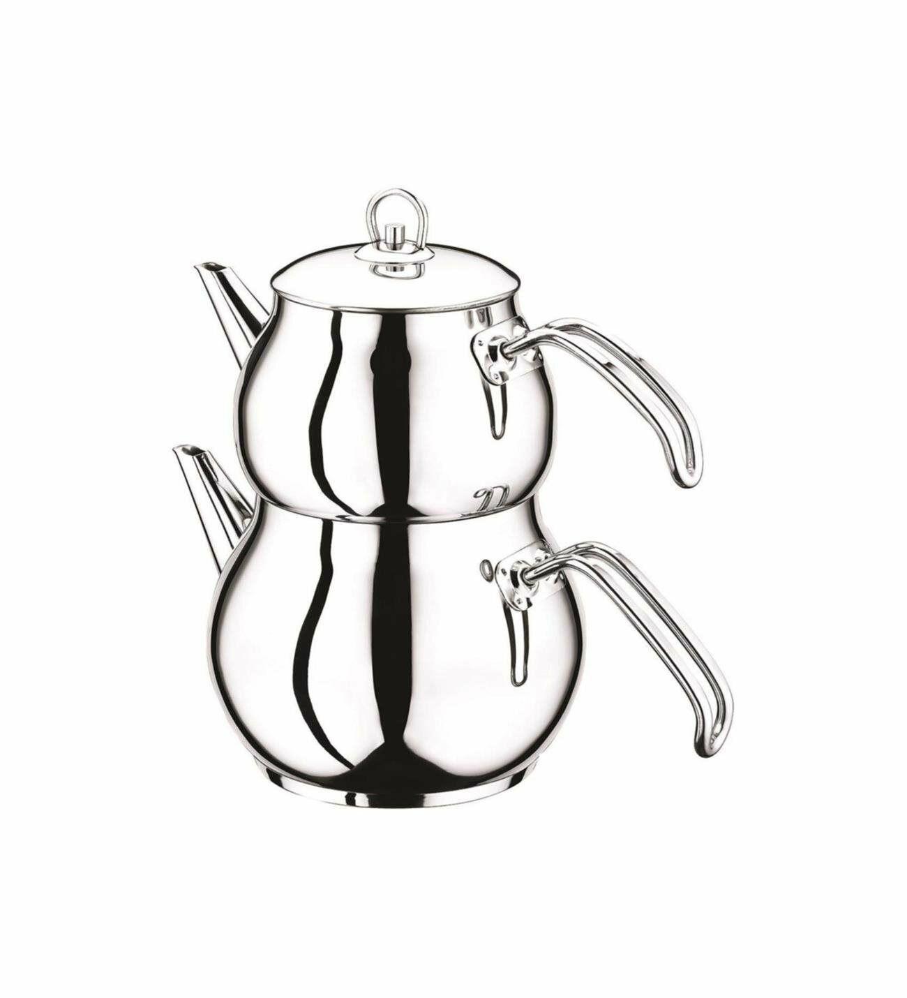 Hayat Türkische Teekanne Teekocher Teekessel 3 Größen Edelstahl Induktion Caydan