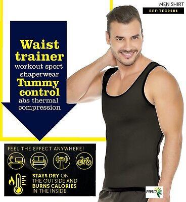 a7473178817ee Neoprene Men Reversible Thermal Fat Burner Shaper Sweat Workout Tank Slim  Cami
