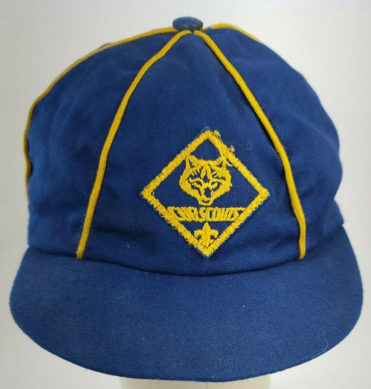 Vintage Cub Scout Hat Classic Yellow/Blue