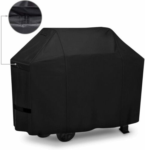 iCOVER BBQ Barbeque Gas Grill Cover 60 inch, Heavy Duty 600D Canvas Smoker Cover