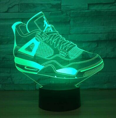 Sports Neon Signs - New Air Jordan 4 Flight Sneakers Neon Sign USB 3D powered LED Light Sports Store
