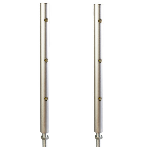 2x Jewelry showcase LED light Pole Silver 4000K Retail display + UL power FY-34M