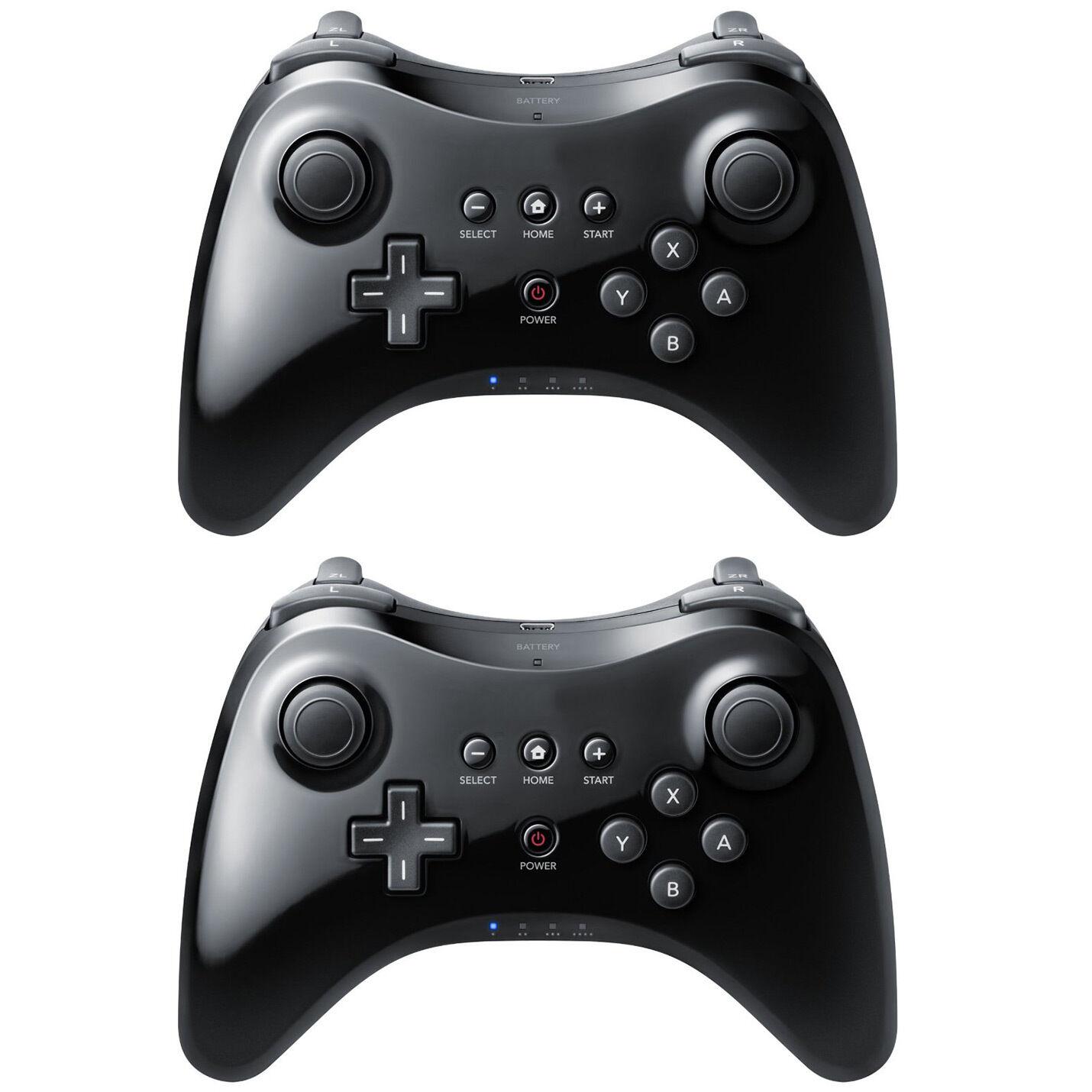 Купить Nintendo - 2 Black High Quality U Pro Bluetooth Wireless Controller for Nintendo Wii U