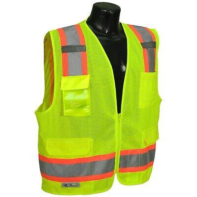 Radians Surveyor Style 2 Tone Mesh Safety Vest Class 2 6 Pockets Ansiisea 107