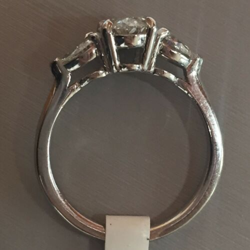 1.58 CARAT H VS2 GIA CERTIFIED OVAL CUT DIAMOND ENGAGEMENT RING SET IN PLAT 950 3