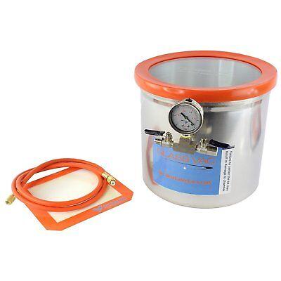 Glass Vac 3 Gallon Aluminum Vacuum Degassing Chamber
