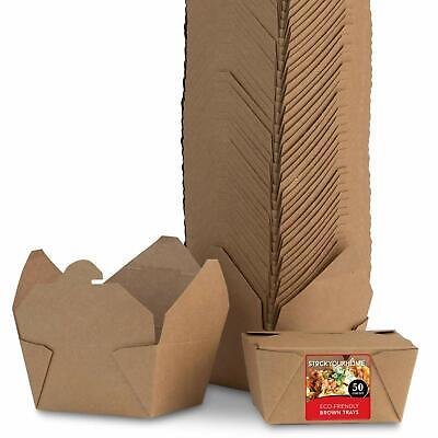 Stock Your Home 30 Oz Eco Friendly Brown Take Out Boxes- 50 Count