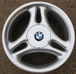 One Bmw 17 Quot Tri Spoke Alloy Wheel New Z3 38 E36 3 7 5j