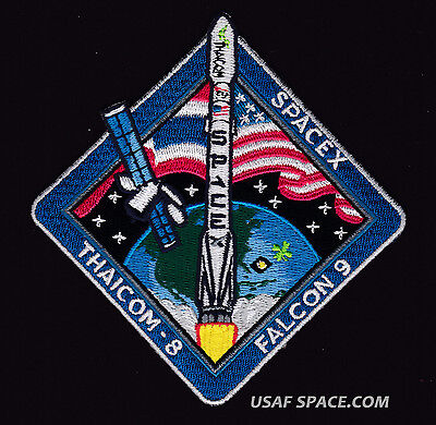 Thaicom 8  Spacex   Original Falcon 9 Launch Ccafs Satellite Mission Patch
