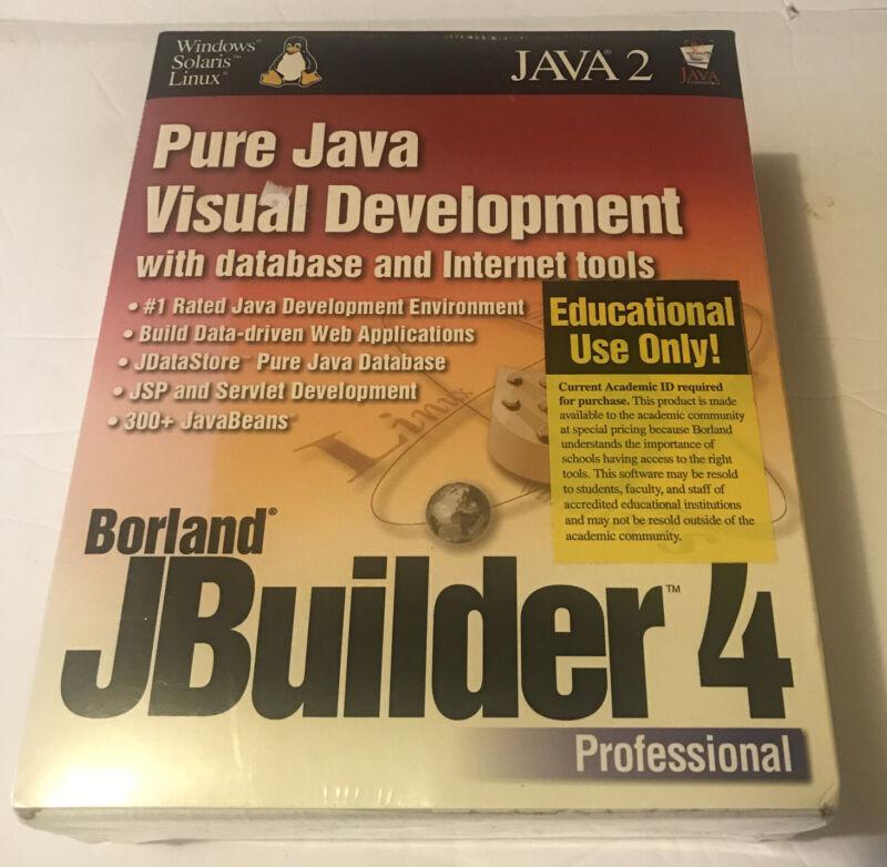 Pure Java Visual Development Borland Jbuilder 4 Windows Sealed NEW Educational