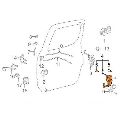 For Toyota Genuine Door Latch Assembly Rear Left 6930604020